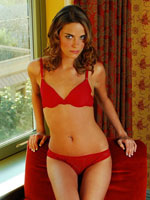 Hot Teenage Hoe Megan Powers Turns Tricks For Money In Her Red Panties And Matching Bra